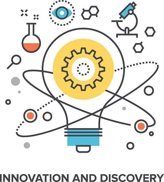 innovation and discovery – Vektorgrafik