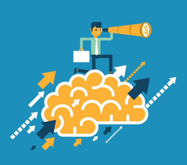 Innovation - Businessman vector art illustration