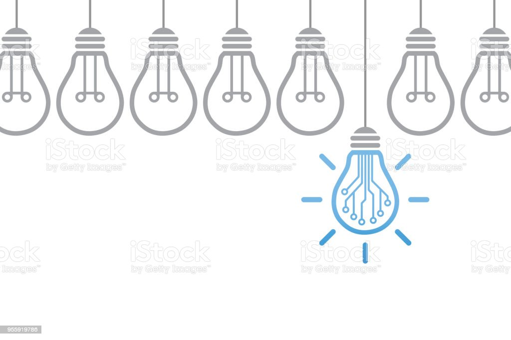 Innovation Concept with Light Bulb - Royalty-free Breaking New Ground stock vector