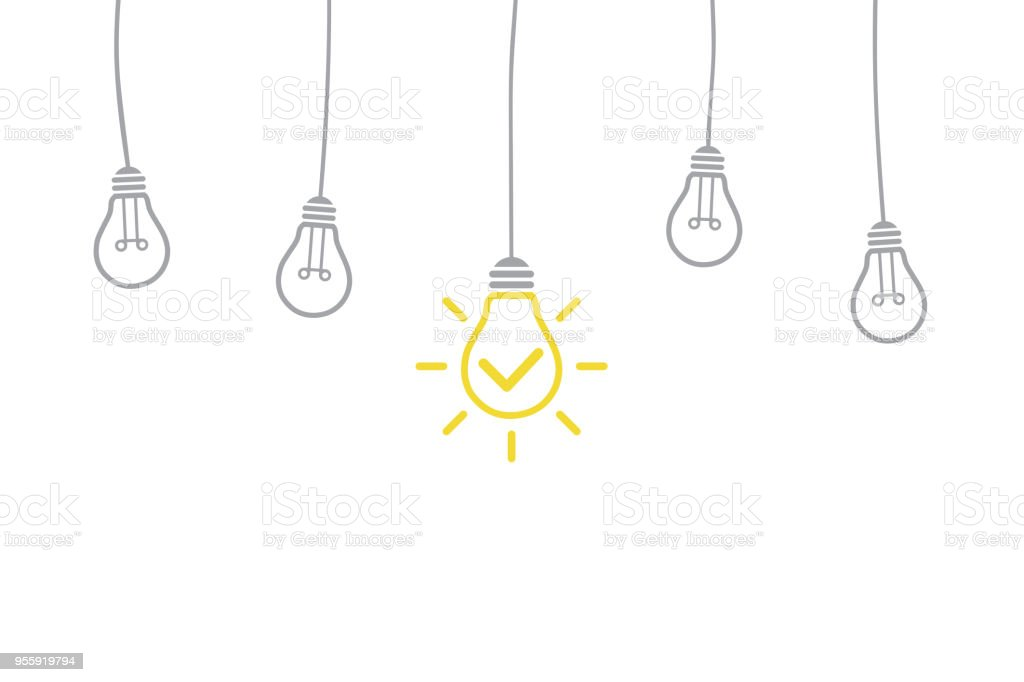 Innovation Concept with Light Bulb royalty-free innovation concept with light bulb stock illustration - download image now