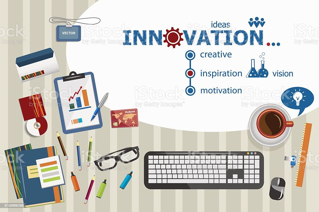Innovation Design And Flat Illustration Concepts For Busi Royalty Free