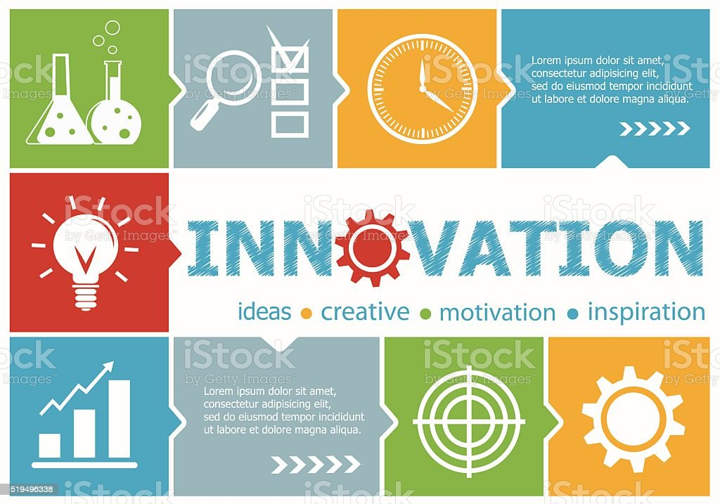 Innovation design illustration concepts for business, consulting vector art illustration