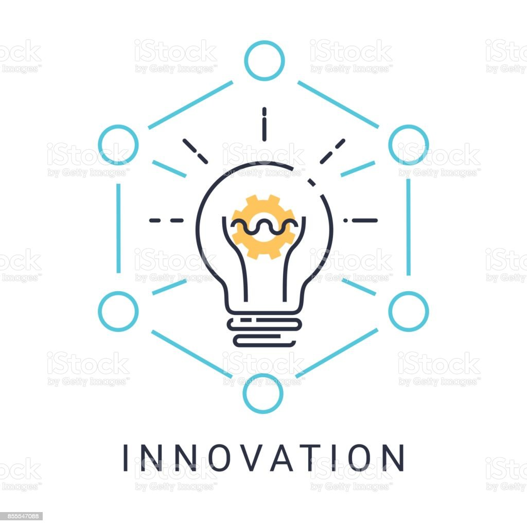 Innovation Icon With Light Bulb And Gear On White Background With Illustration Gm855547088 140848441 on light bulb conversion