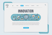 Innovation Landing page web design templates for banner, inspiration, research, analysis, Development and science technology. Modern vector illustration concepts for web.
