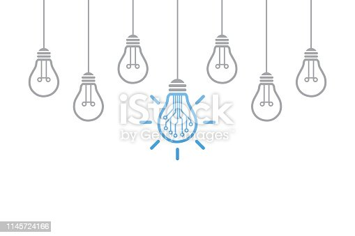 Innovative Idea Concepts with Light Bulb