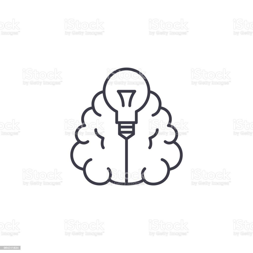 Innovative Ideas Linear Icon Concept Innovative Ideas Line Vector