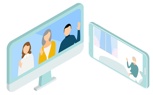 Inpatients and their families to visit online