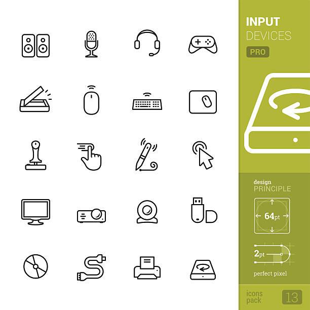 geben sie die geräte zugehörige vektor-icons-pro packung - mauspad stock-grafiken, -clipart, -cartoons und -symbole