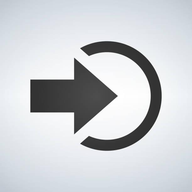 illustrations, cliparts, dessins animés et icônes de entrée ou login icône isolé signe symbole et plat style pour app, web et design numérique. illustration vectorielle. - entrée