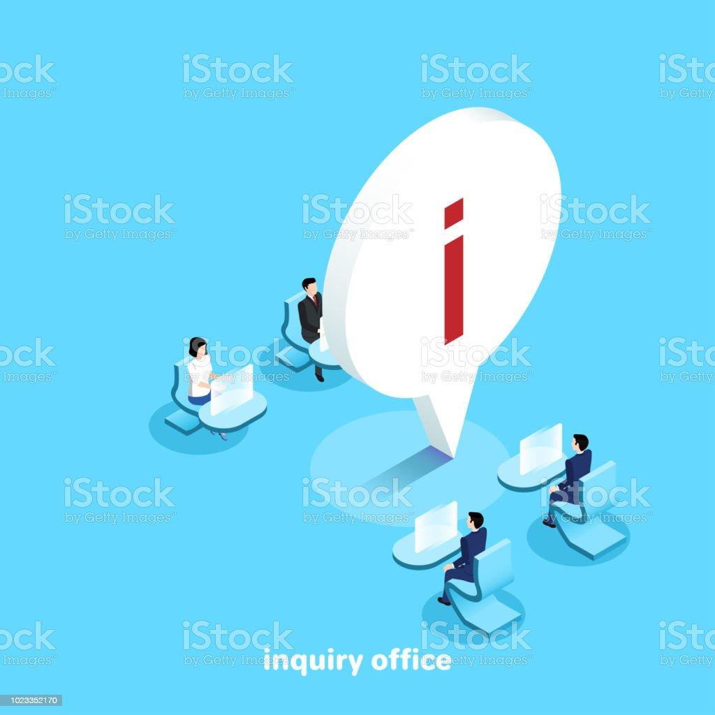 inquiry office vector art illustration