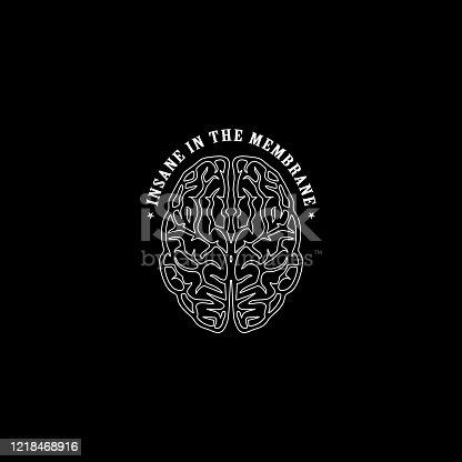 Insane Brain Sayings T-shirt Design Illustration