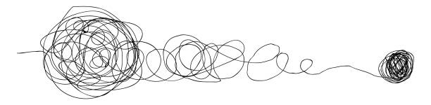 bildbanksillustrationer, clip art samt tecknat material och ikoner med galen slumpmässig linje. - balpress