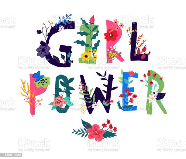 Inscription girl power surrounded by flowers vector illustration in vector id1139314935?b=1&k=6&m=1139314935&s=612x612&h=9dp1hwgdbx sx3c cyyq dwitfrriz4luymara4t1uu=