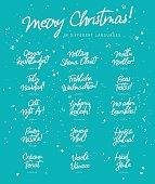 Inscription of Merry Christmas