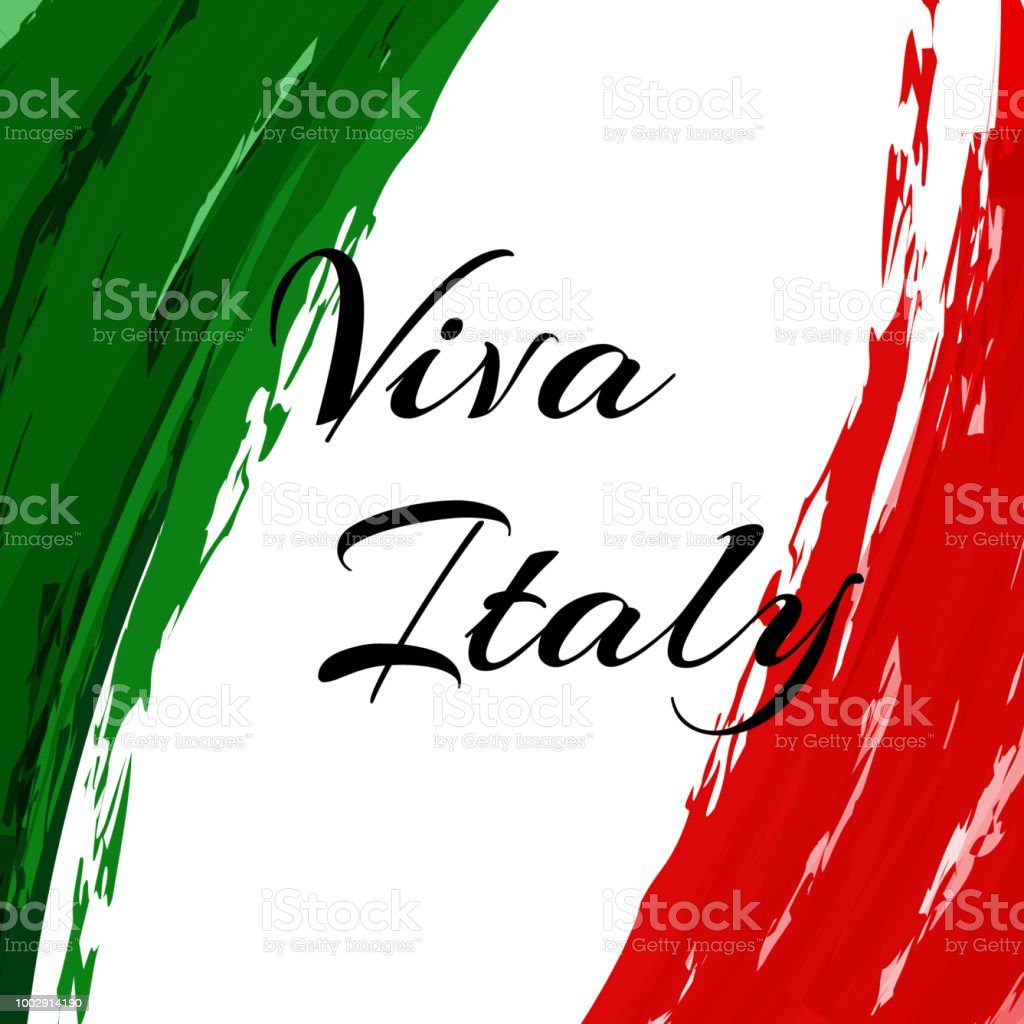 Yazıt Viva Italya Italya Suluboya Resim Ulusal Bayrak Arka Planı