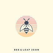 Insect Bee Color Illustration Vector Template. Suitable for Creative Industry, Multimedia, entertainment, Educations, Shop, and any related business.