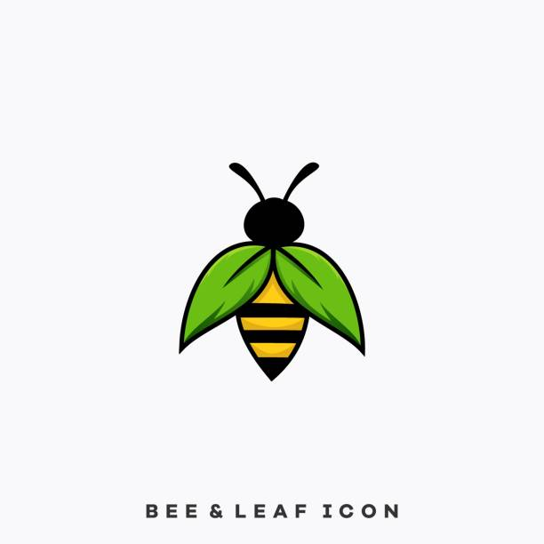 Insect Bee Color Illustration Vector Template Insect Bee Color Illustration Vector Template. Suitable for Creative Industry, Multimedia, entertainment, Educations, Shop, and any related business. arthropod stock illustrations