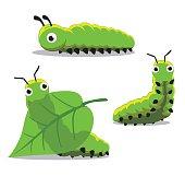 Insect Caterpillar Cartoon Vector Illustration