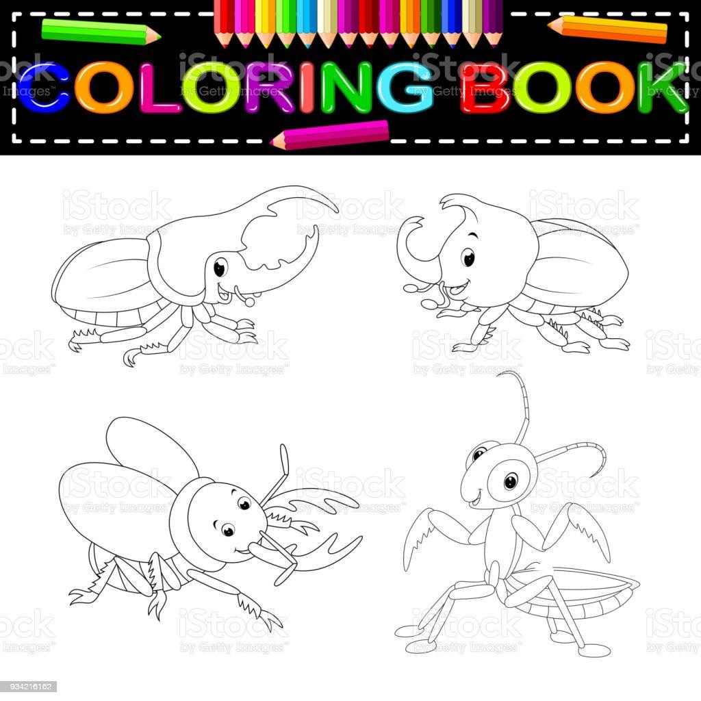 Libro Para Colorear Insectos - Arte vectorial de stock y más ...