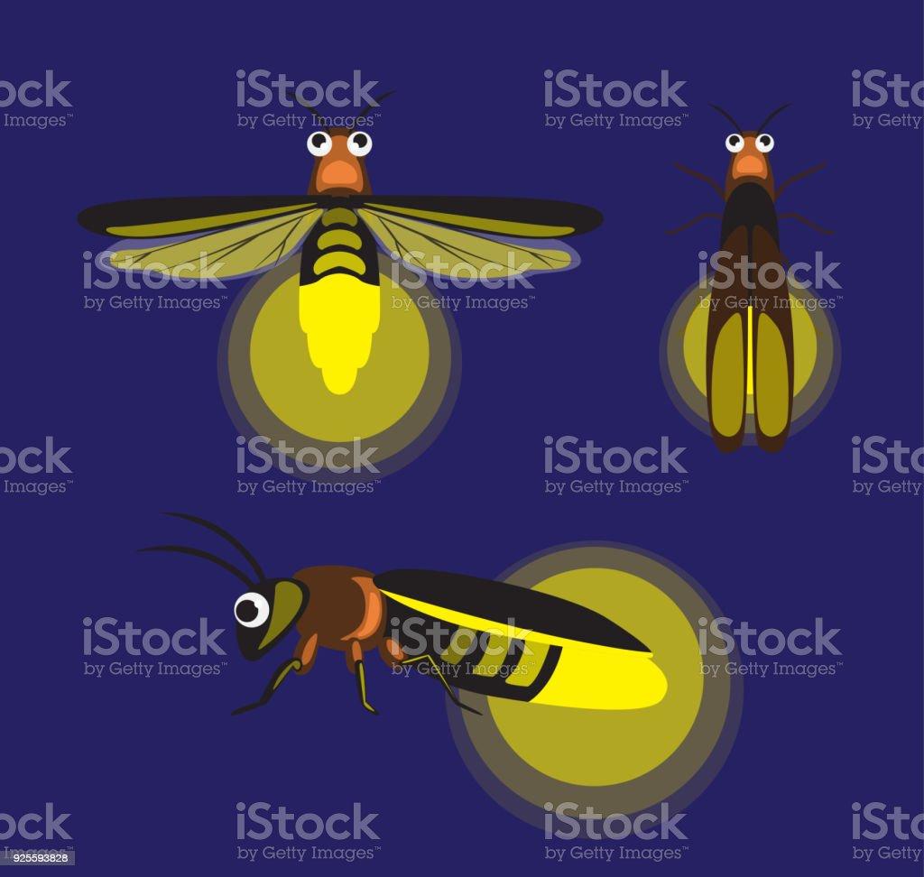 Ilustración de Luciérnaga De Insectos De Dibujos Animados Lindo ...