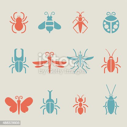 Insect icons - Color Series