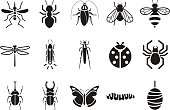 Insect icons - Illustration