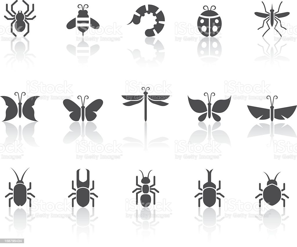 Insect Icons | Simple Black Series vector art illustration