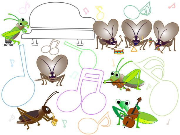 insect music – artystyczna grafika wektorowa