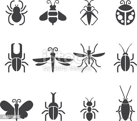 Insect Silhouette icons