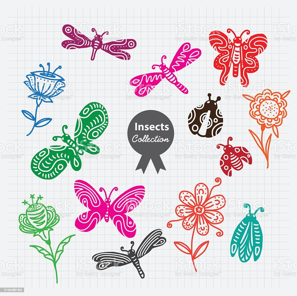 Insect Vector Collection vector art illustration