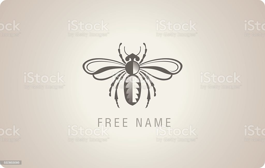 Insect with wings. vector art illustration