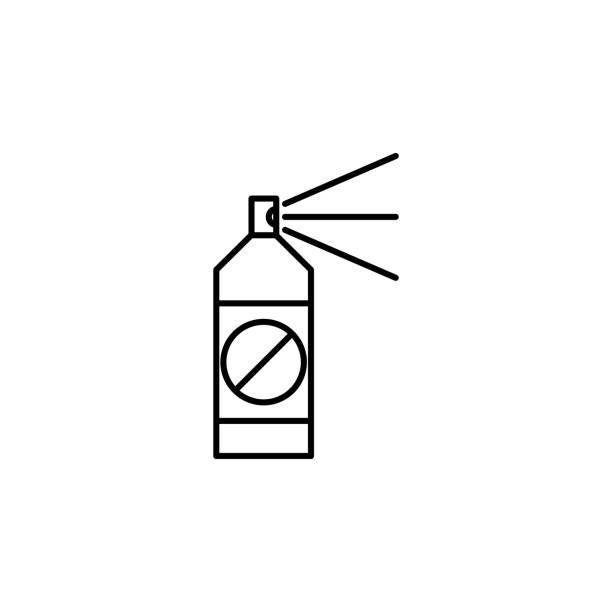 insektizid-symbol. element der pest symbol für mobile konzept und web-apps. dünne linie insektizid symbol für web und mobil einsetzbar - mückenfalle stock-grafiken, -clipart, -cartoons und -symbole