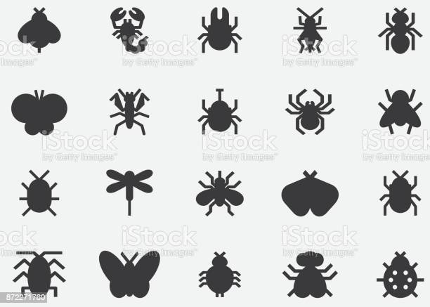 Insects and bugs black silhouette icons vector id872271760?b=1&k=6&m=872271760&s=612x612&h=eqoladit9pqpfyxvtyng0gtn1y7bqwcpkcewshrmznu=