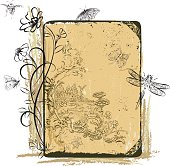 Victorian style Insects and grunge elements. Lots of hand drawn elements.