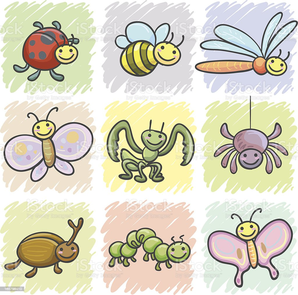 Insects cartoon icon royalty-free stock vector art
