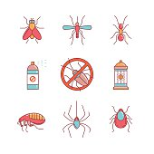 Insects control, anti pest emblem, insecticide