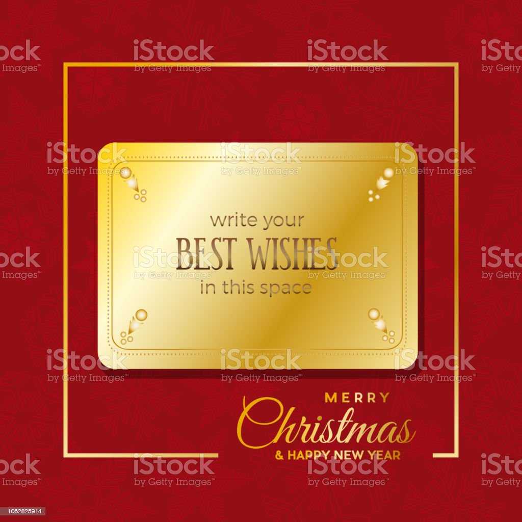 insert best wishes in empty frame merry christmas and happy new year greeting