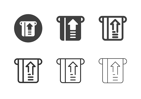 Insert Card Icons Multi Series Vector EPS File.