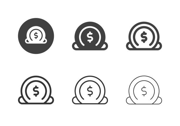 Insert Coin Icons - Multi Series vector art illustration