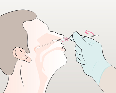 insert the swab into the nostril