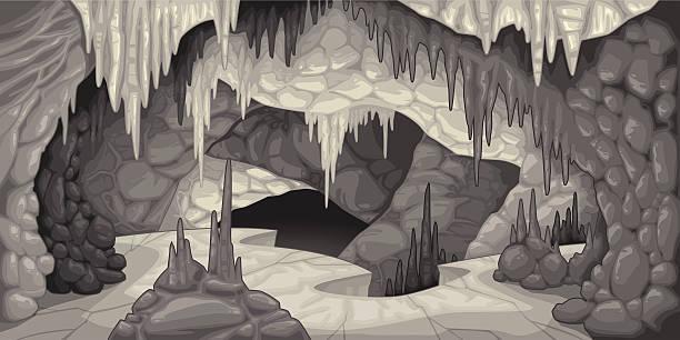 bildbanksillustrationer, clip art samt tecknat material och ikoner med inside the cavern. - stalagmit