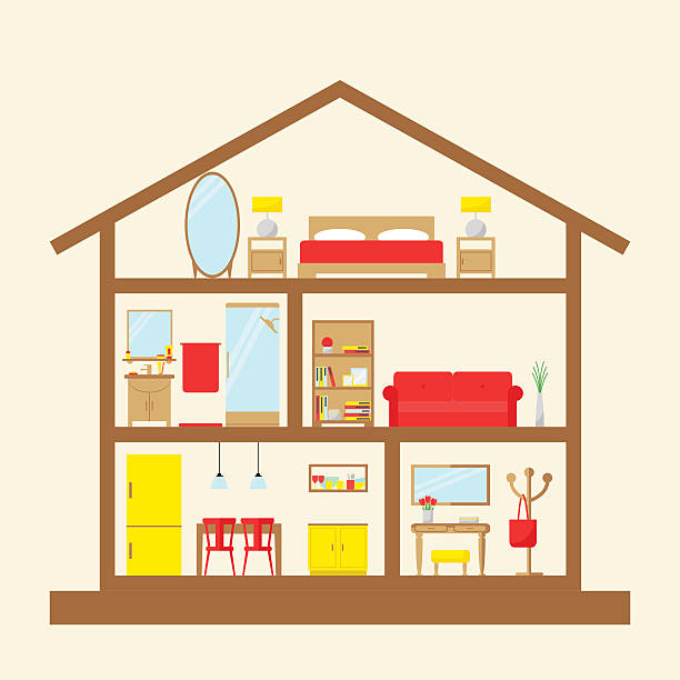 Best Model House Illustrations Royalty Free Vector Graphics
