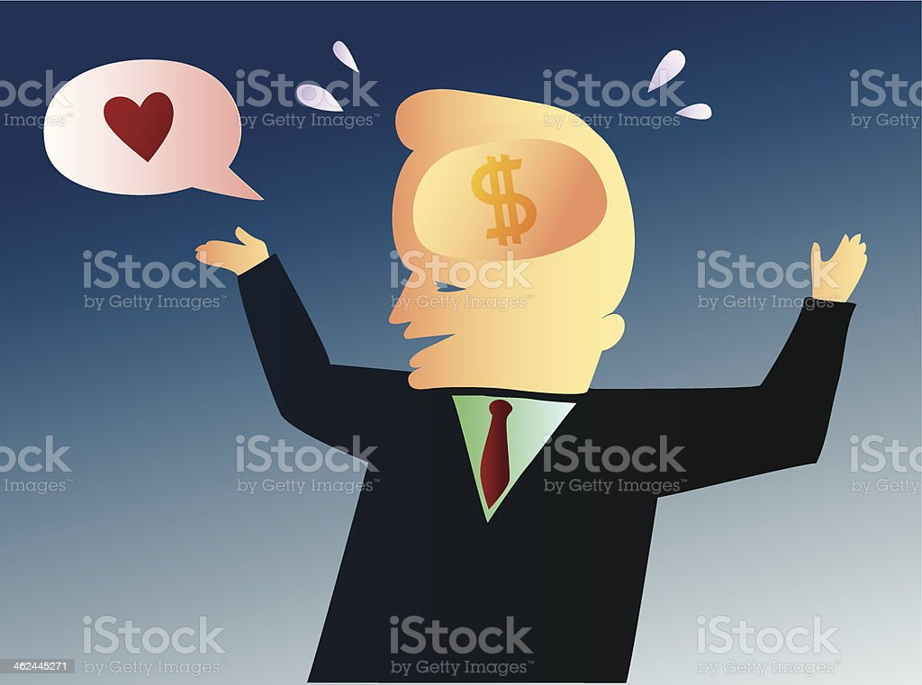 Insincere and money interested man pretending to be in love royalty-free insincere and money interested man pretending to be in love stock vector art & more images of adult