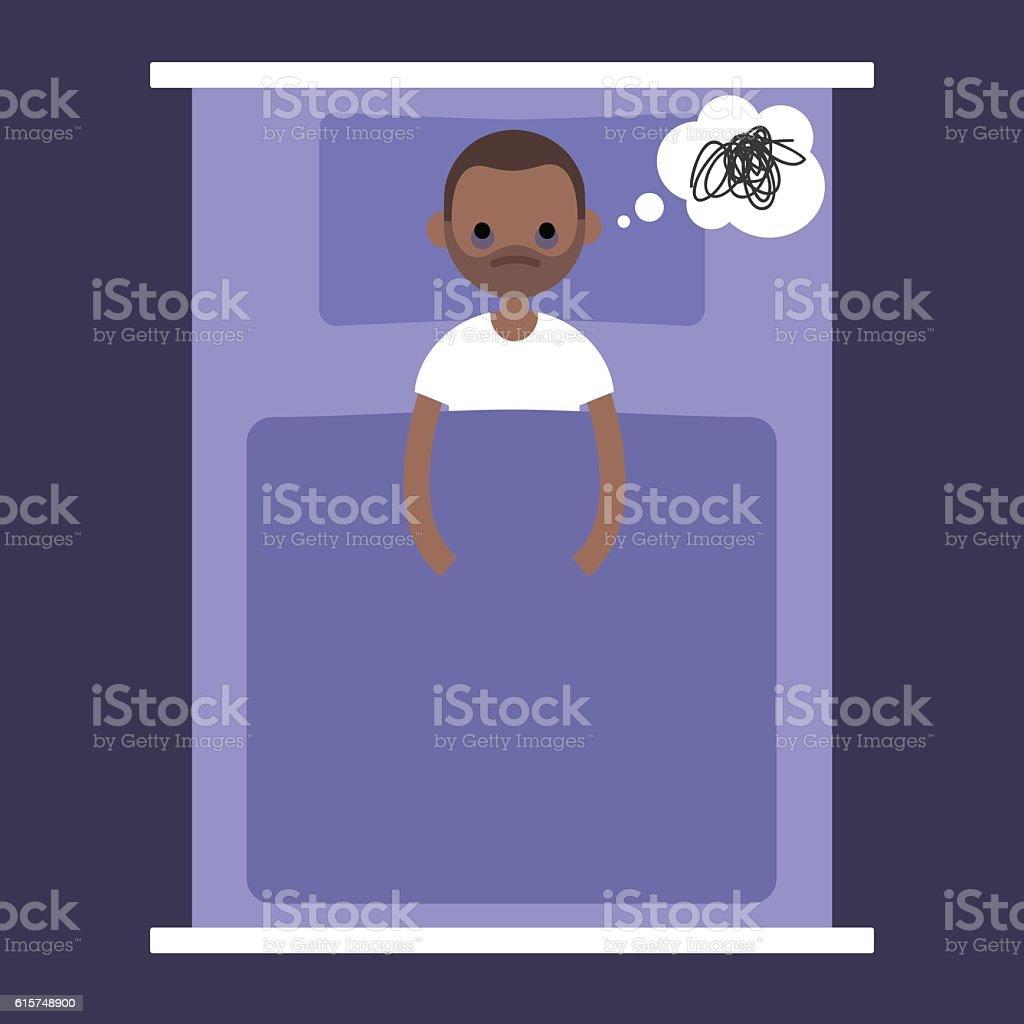 Insomnia conceptual illustration vector art illustration