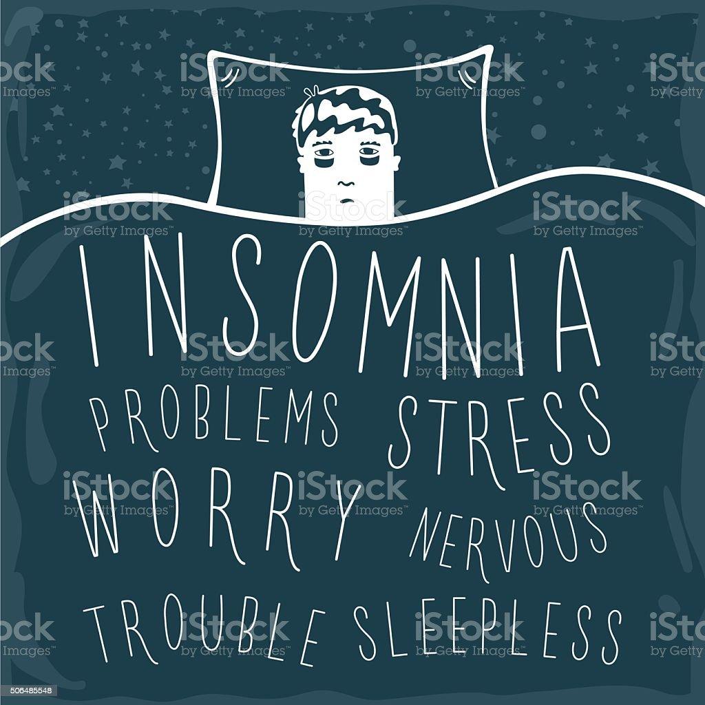 Insomnia vector art illustration