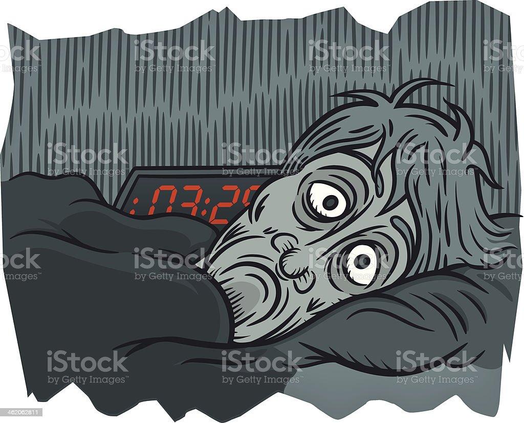Insomniac vector art illustration