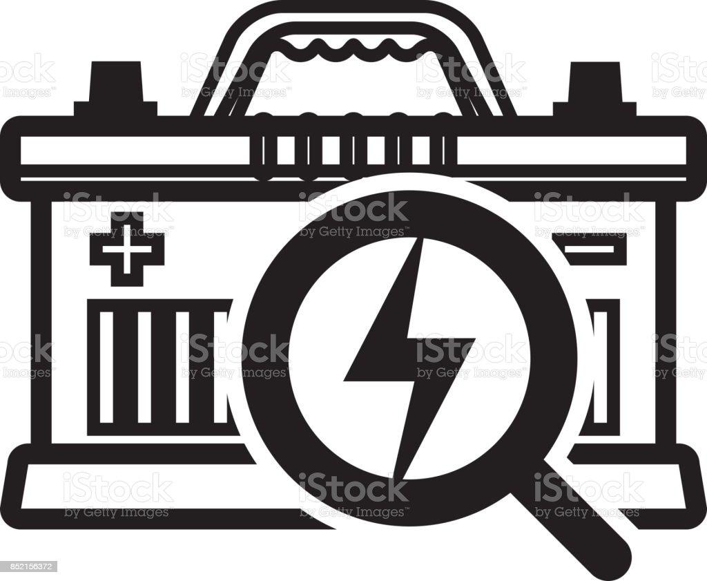 Batterie-Symbol - Illustration zu inspizieren – Vektorgrafik