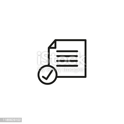 Inspection line icon on a white background.Vector illustration