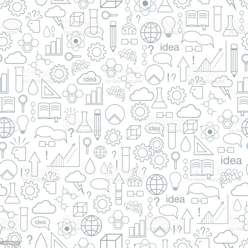 Inspiración e idea. De patrones sin fisuras. - ilustración de arte vectorial