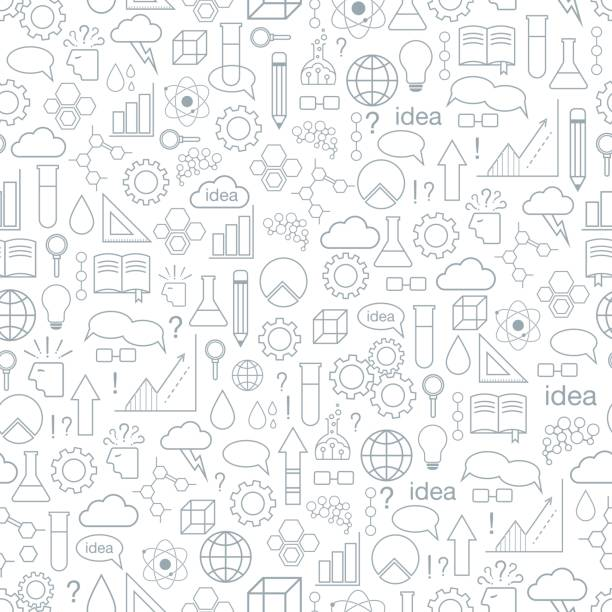inspiration and idea. seamless pattern. - school backgrounds stock illustrations, clip art, cartoons, & icons